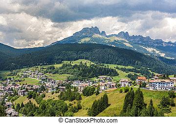 village in the dolomites near Vigo in the Alps