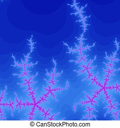 Colored fractal background - Blue and pink Colored fractal...