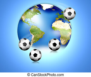 Soccer football world balls 3D Render Elements of this image...