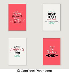 father day labels - abstrac father day labels on a white...
