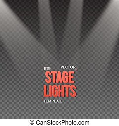 Vector Stage Light Effect. EPS10 Bright Stage Light
