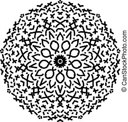 Abstract isolated mandala ornament.