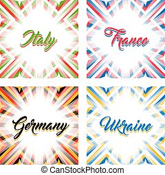 Abstract geometric backgrounds in national colors - Italy,...