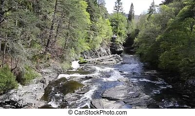 River Moriston falls Invermoriston - River Moriston falls by...