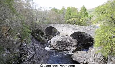 Invermoriston bridge Scotland UK Scottish tourist attraction...