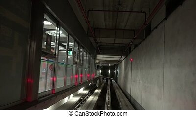 Subway Train Tunnel And Tracks