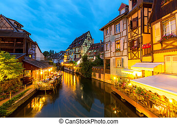 Colmar France Night - Colmar town France at Night