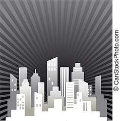 Black and white real estate background - Black and white...