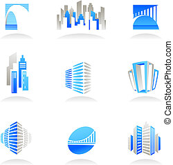 Real estate and construction icons / logos - Collection of...