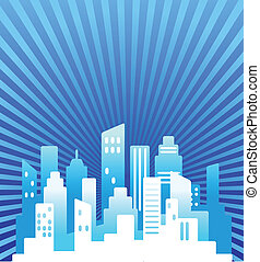 Blue real estate background - Blue abstract real estate...