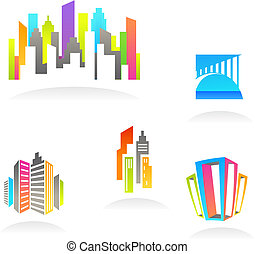 Real estate and construction icons / logos - 3