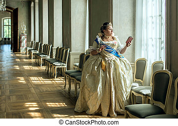 Historical cosplay. Catherine the Great, empress of Russia...