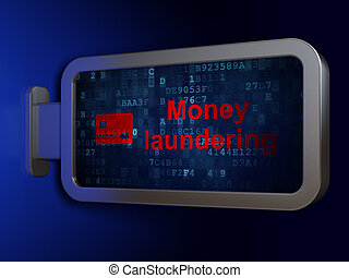 Banking concept: Money Laundering and Credit Card on...