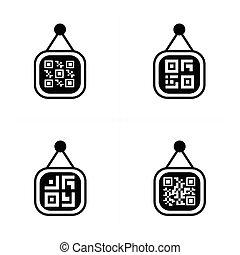 QR code on Price label Icon