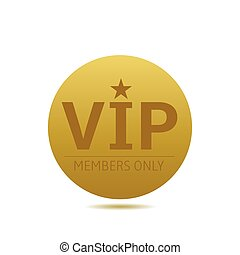 Golden VIP label - VIP members only Golden badge, Royal...