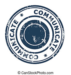 Communicate business concept rubber stamp isolated on a...