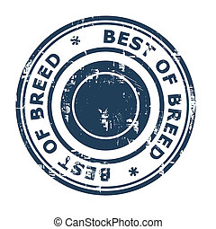 Best of Breed business concept rubber stamp isolated on a...