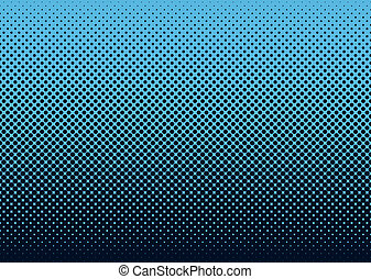 Halftone background blue - Seamless halftone dot pattern...