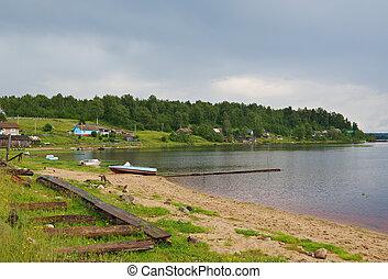 North Russian village. Kenozerye. Arkhangelsk region, Russia