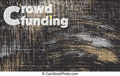 Vector abstract scratched background and the words crowd...