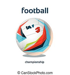 Football Championship Colorful Banner Flat Vector...