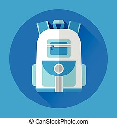 School Backpack Icon - School Backpack Colorful Icon Flat...