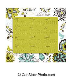 Garden Calendar 2011 - A retro styled floral calendar for...