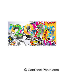 2011 Cartoon Style Background