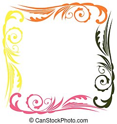 Photo floral frame