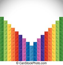 Lego icon. Abstract figure. Vector graphic - Lego concept...