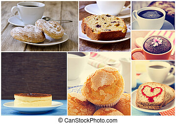 sweet food collage - a collage of set pictures of different...