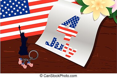 stylish american design. US Independence Day July 4 -...