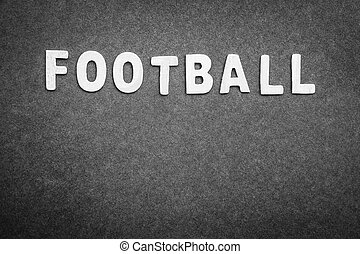 Football background - Gray background with word football on...