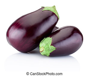 Fresh brinjal isolated on a white background