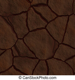 Cracked earth drought - Cracked dry earth ground drought...