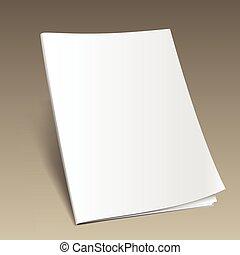 magazine mockup gold2 - Blank magazine mockup template on...