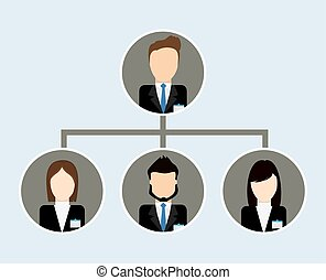 Organization chart icon. Business design. Vector graphic -...
