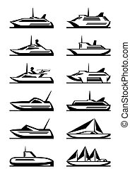 Passenger ships and yachts
