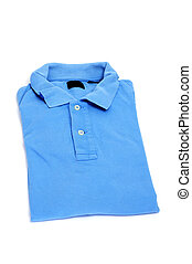 polo shirt - a blue polo shirt isolated on a white...