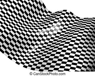 Checker background. 3d