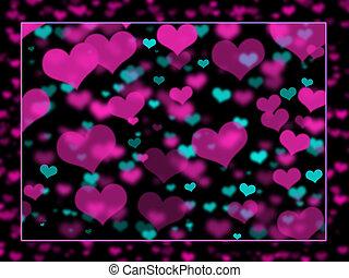 Hearts Background Blended