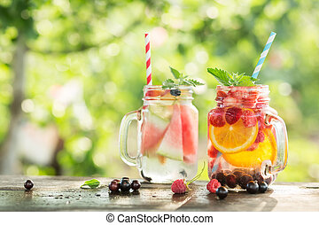 Ice refreshing summer drink