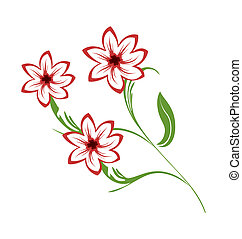 Illustration bouquet of flowers - vector