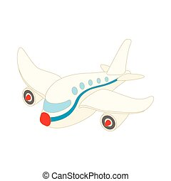 Passenger airliner icon, cartoon style