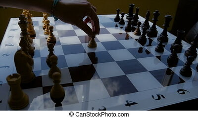 Chess boards and chess pieces. - Chess boards and chess...