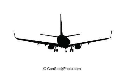 Silhouette of aircraft