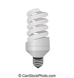 Realistic illustration saving lamp eco - vector