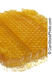 Honey and Honeycomb. Oblique shot with Shallow Dof