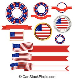 Banners and ribbons American vector