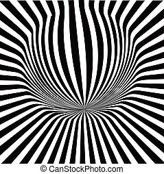 Vector illusion rays on a white background. Illustration EPS